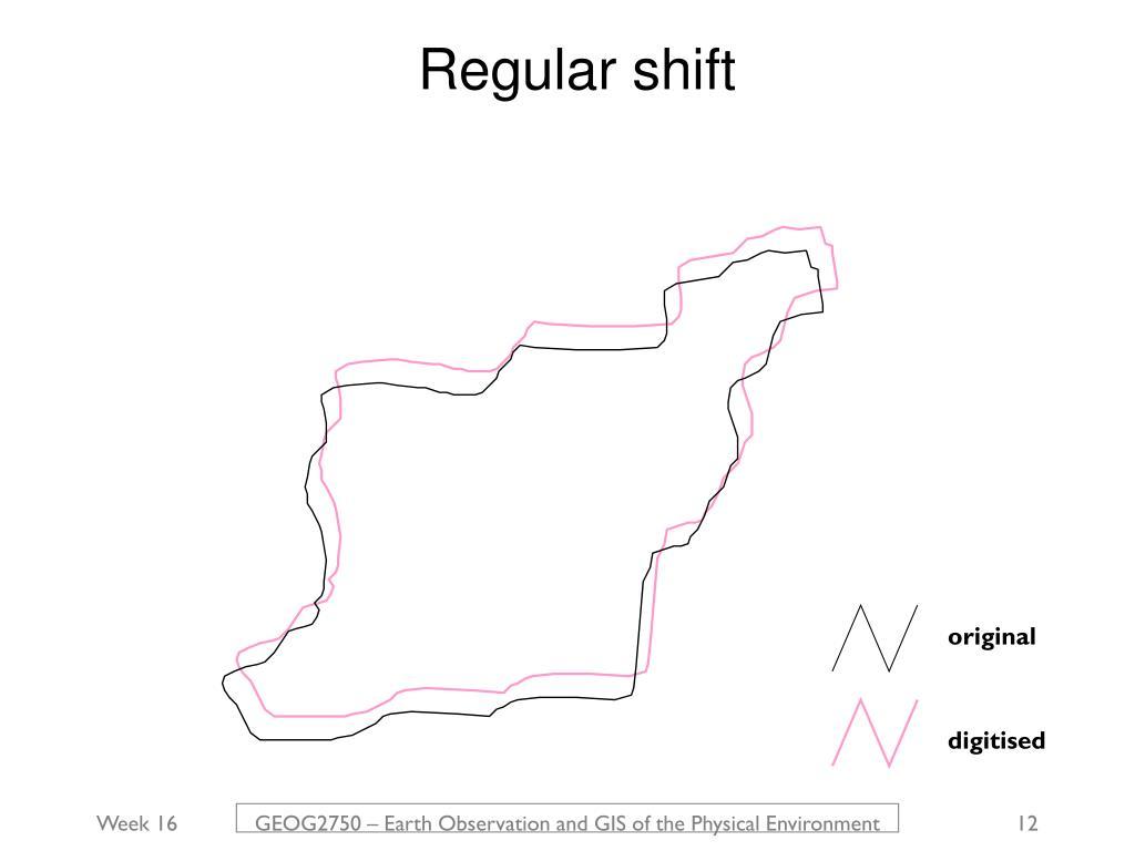 Regular shift