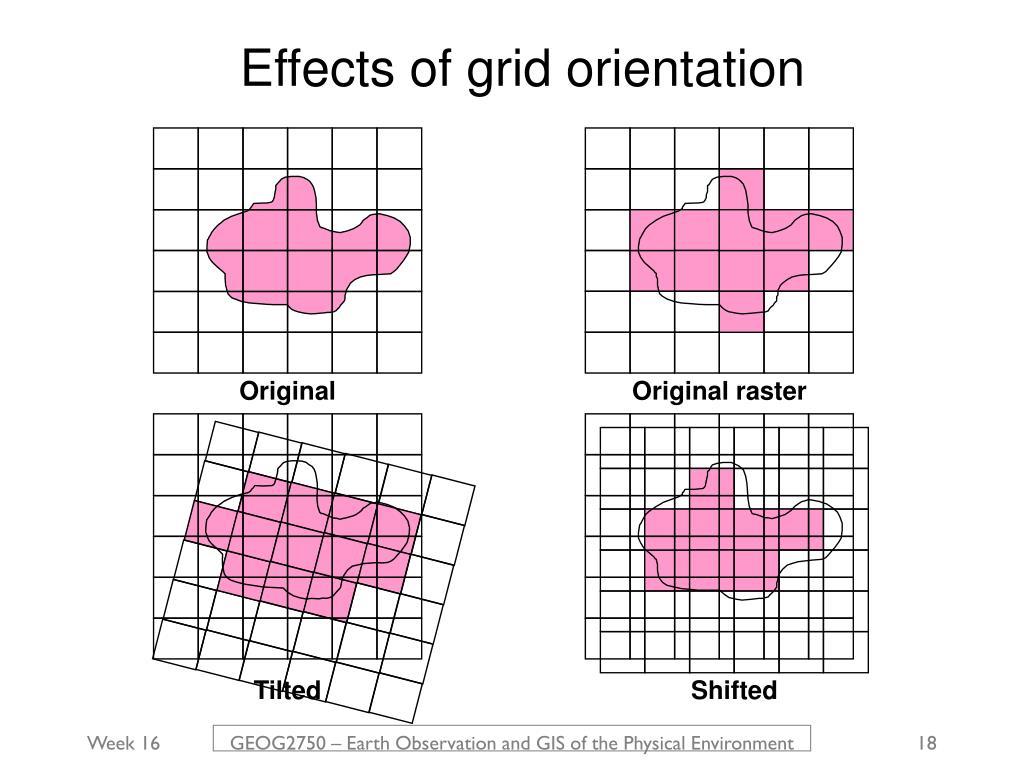 Effects of grid orientation