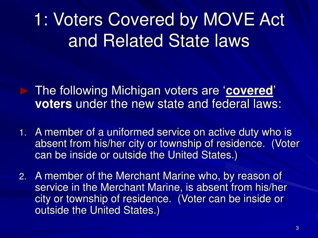 1: Voters Covered by MOVE Act
