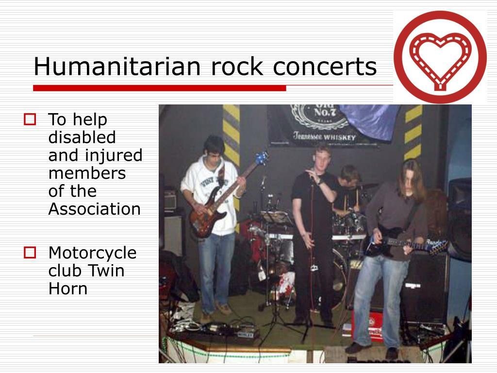 Humanitarian rock concerts
