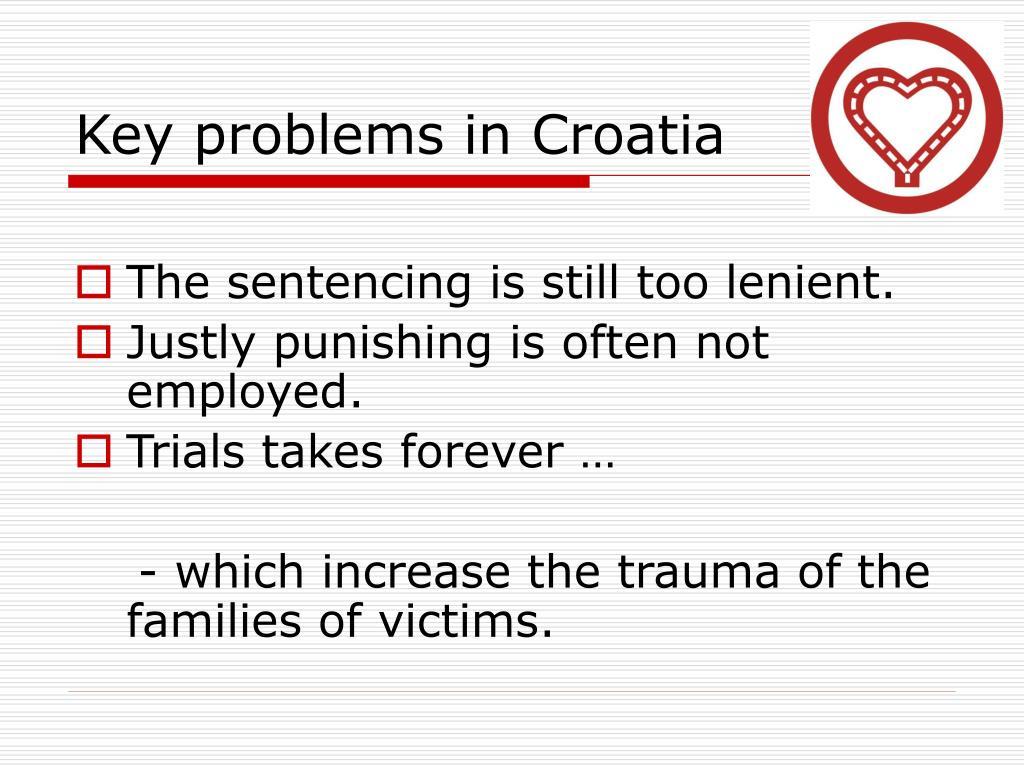 Key problems in Croatia