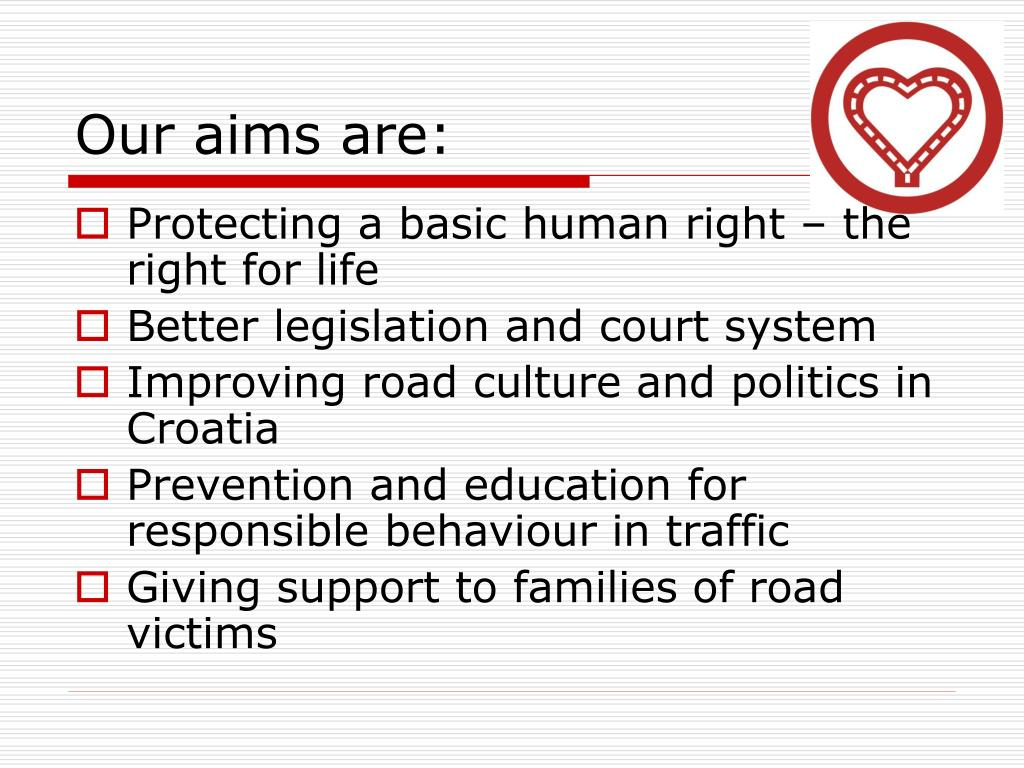 Our aims are: