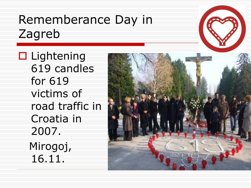 Rememberance Day in Zagreb