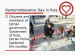 rememmberance day in pula