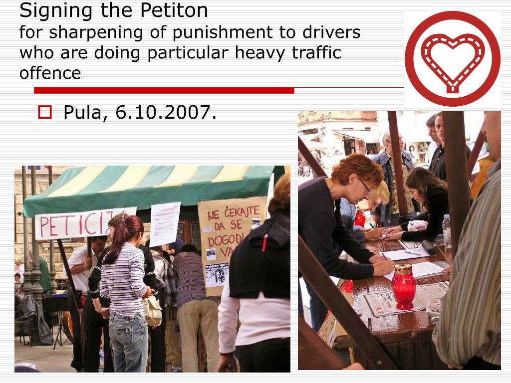 Signing the Petiton