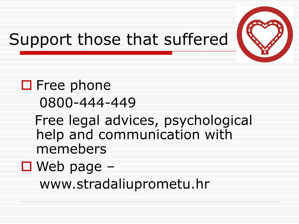 Support those that suffered