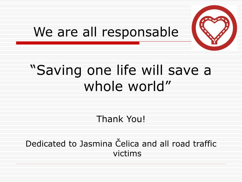 We are all responsable
