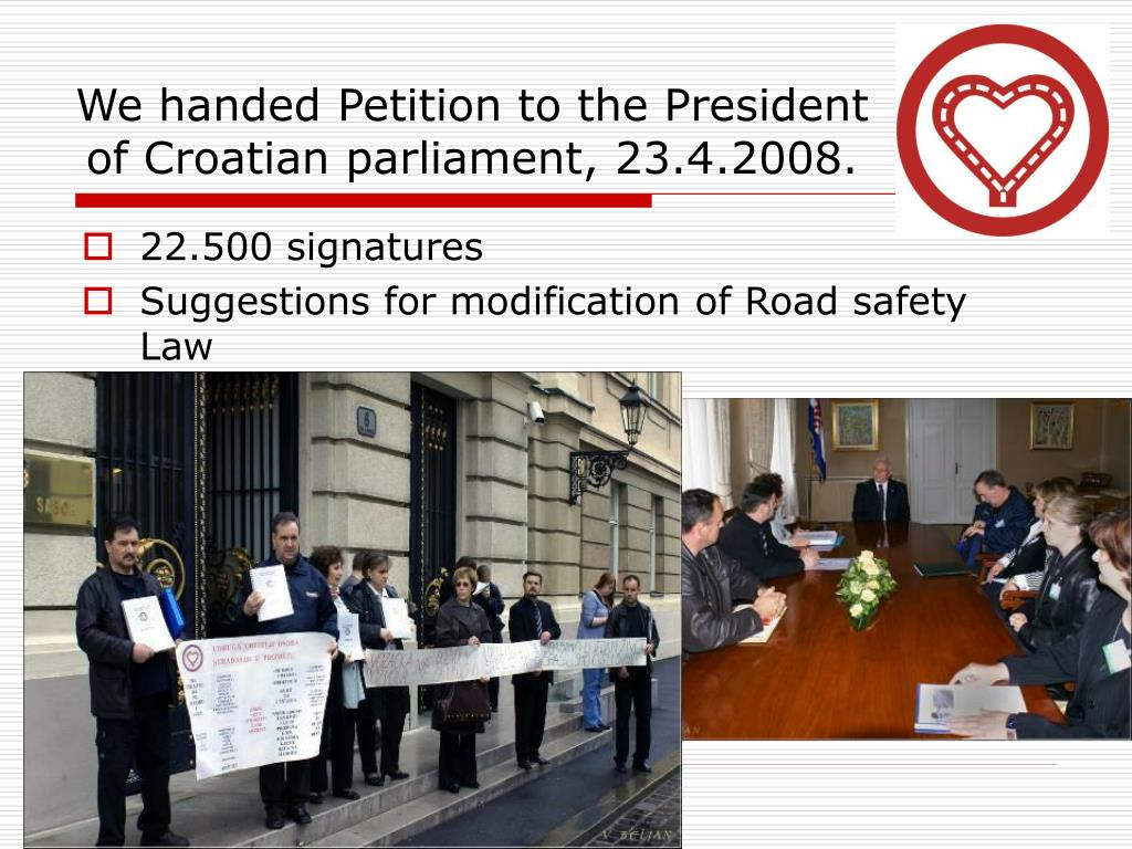 We handed Petition to the President