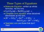 three types of equations