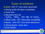 types of solutions9