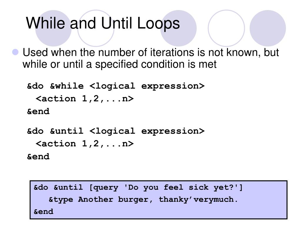 While and Until Loops
