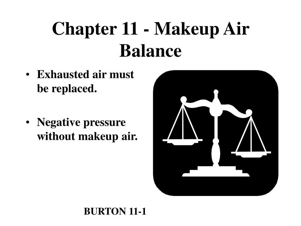 Chapter 11 - Makeup Air Balance