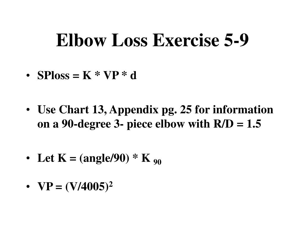 Elbow Loss Exercise 5-9