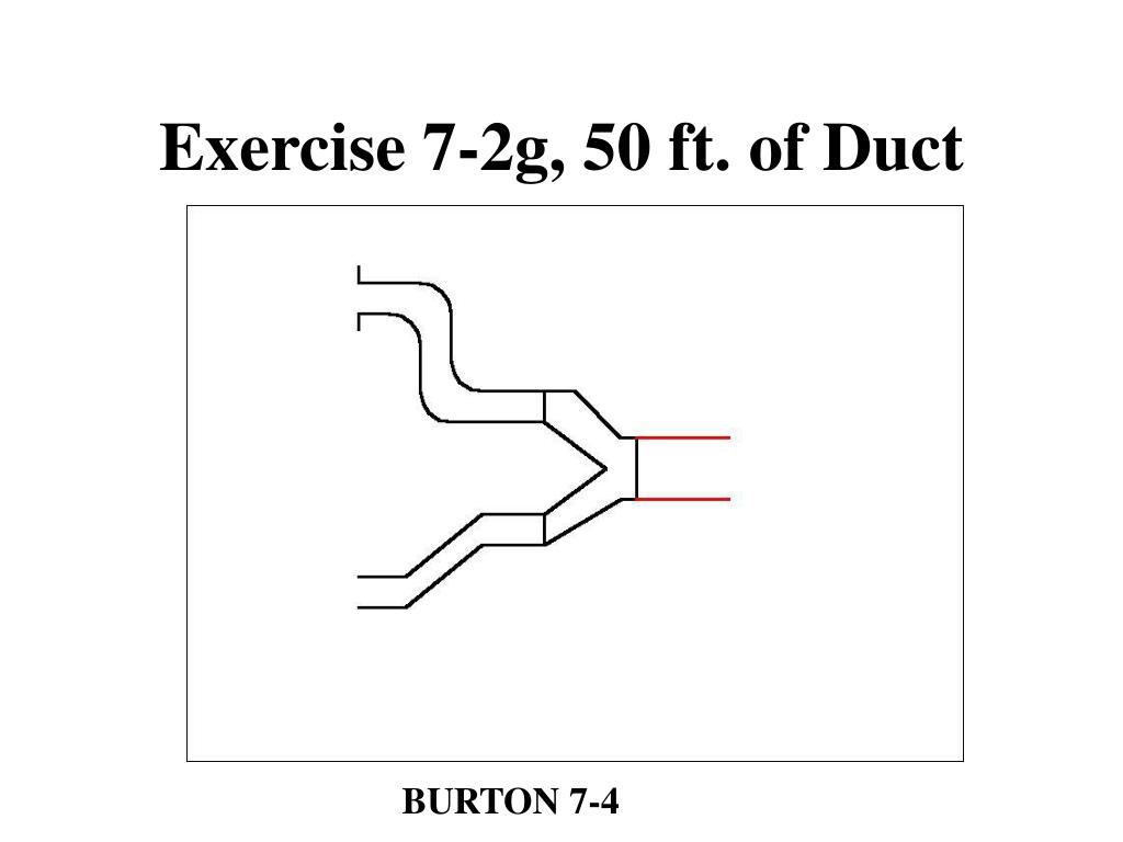 Exercise 7-2g, 50 ft. of Duct