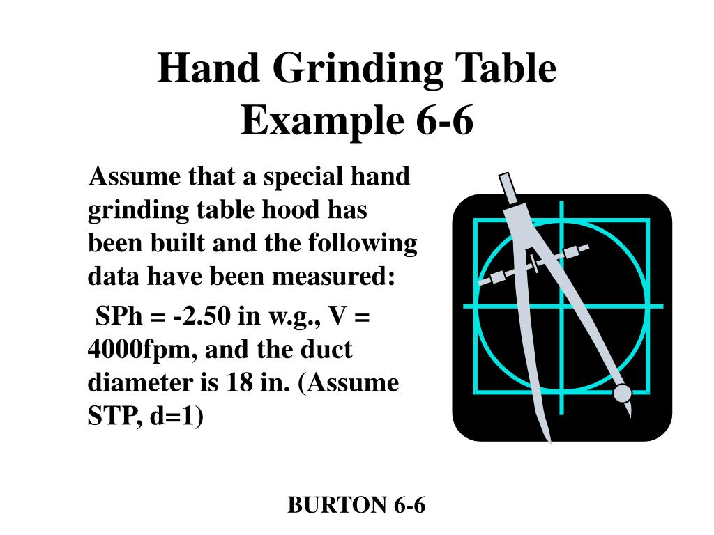 Hand Grinding Table
