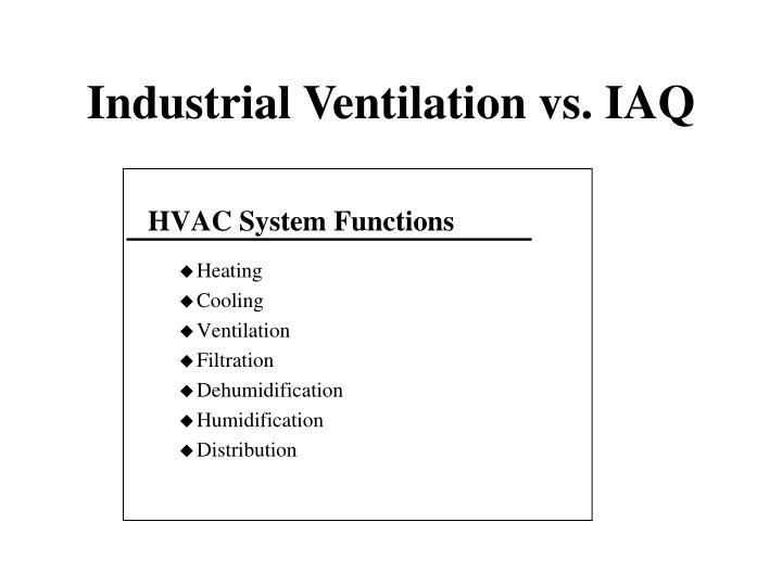 Industrial ventilation vs iaq2