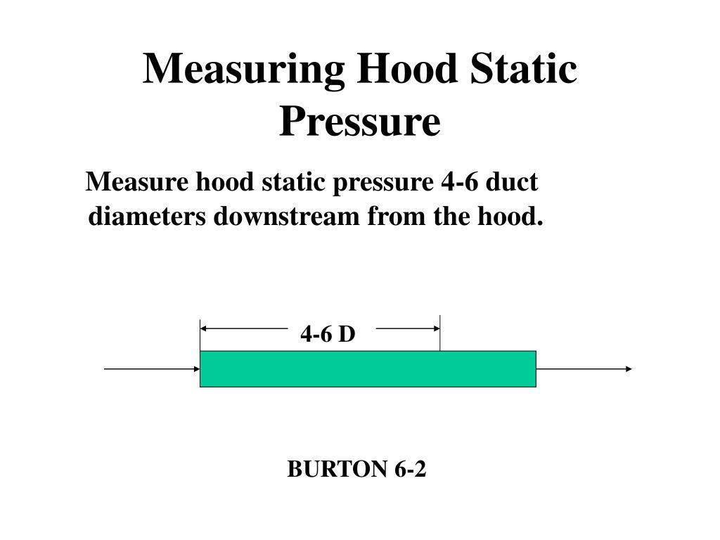 Measuring Hood Static Pressure