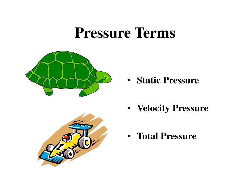 Pressure Terms