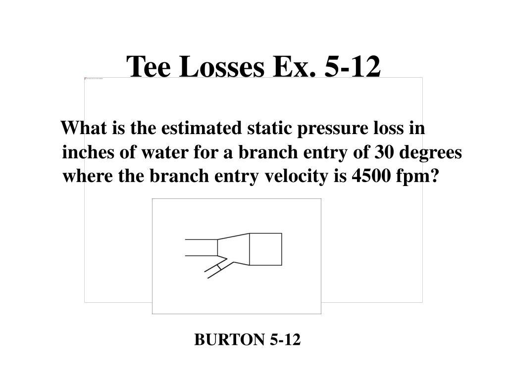 Tee Losses Ex. 5-12