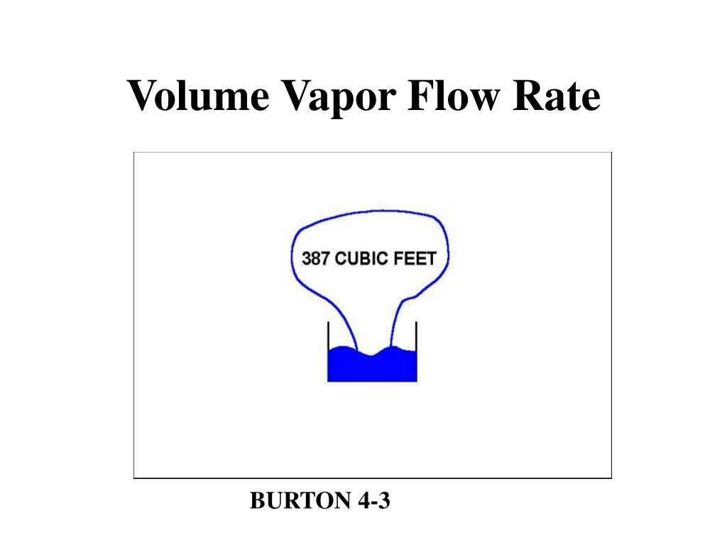Volume Vapor Flow Rate