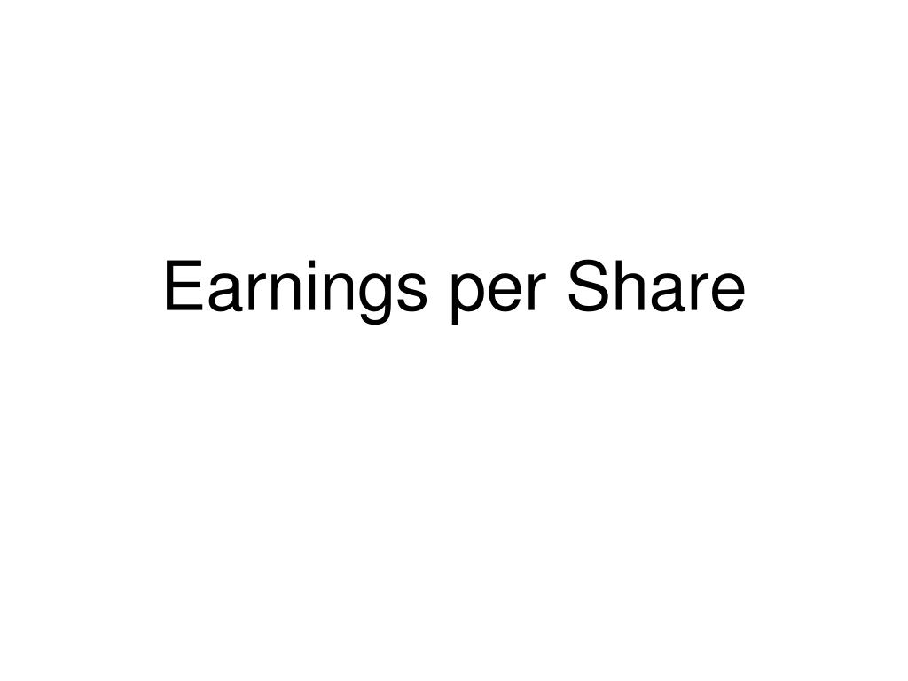 earnings per share l.