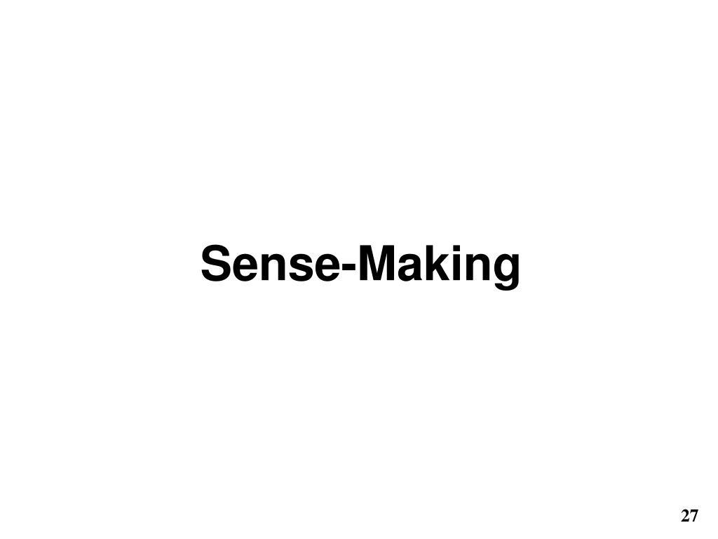 Sense-Making