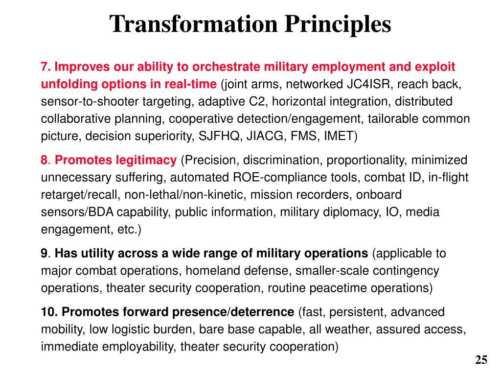 Transformation Principles