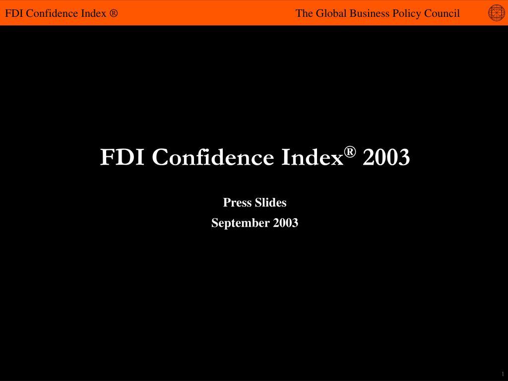 fdi confidence index 2003 l.