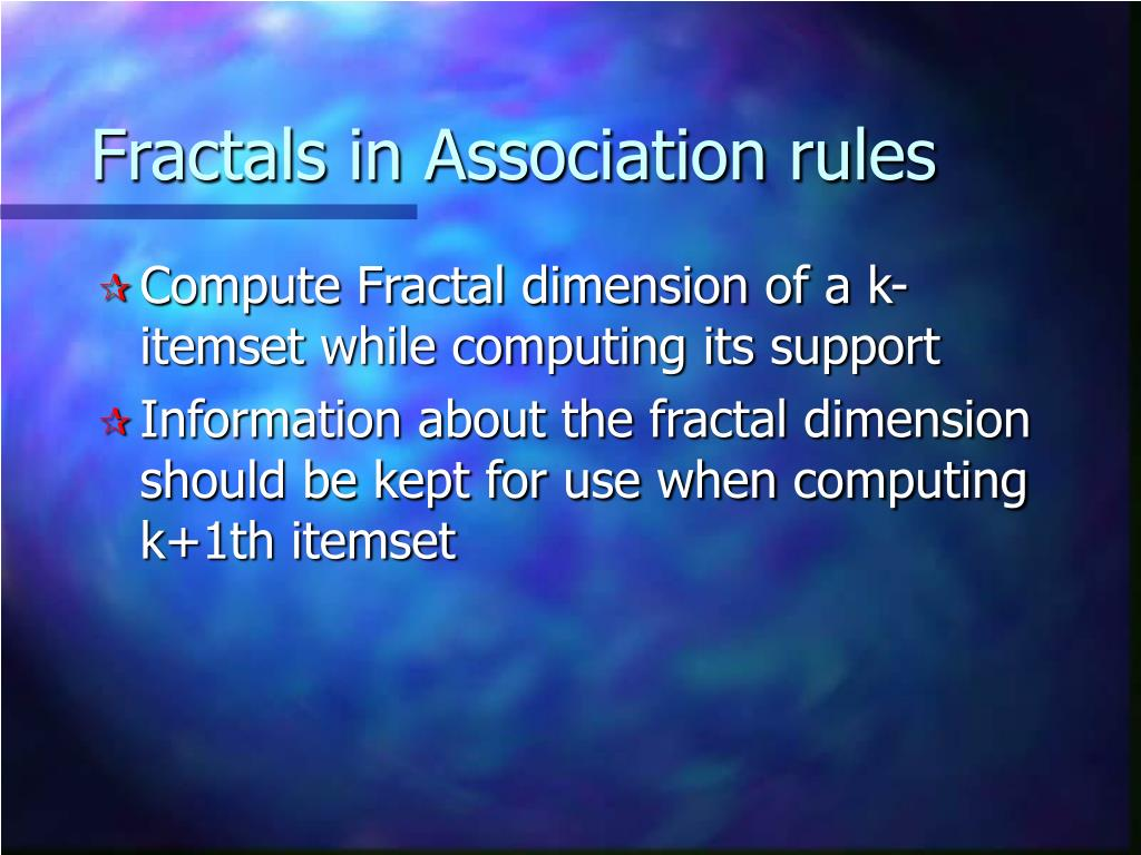 Fractals in Association rules