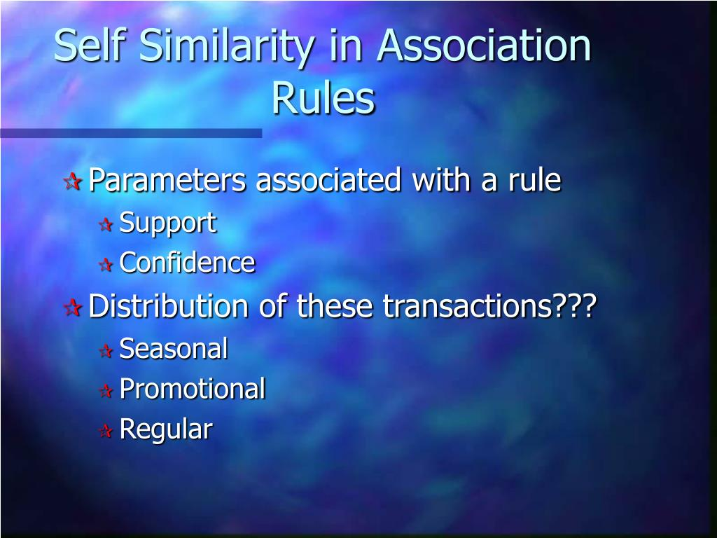 Self Similarity in Association Rules