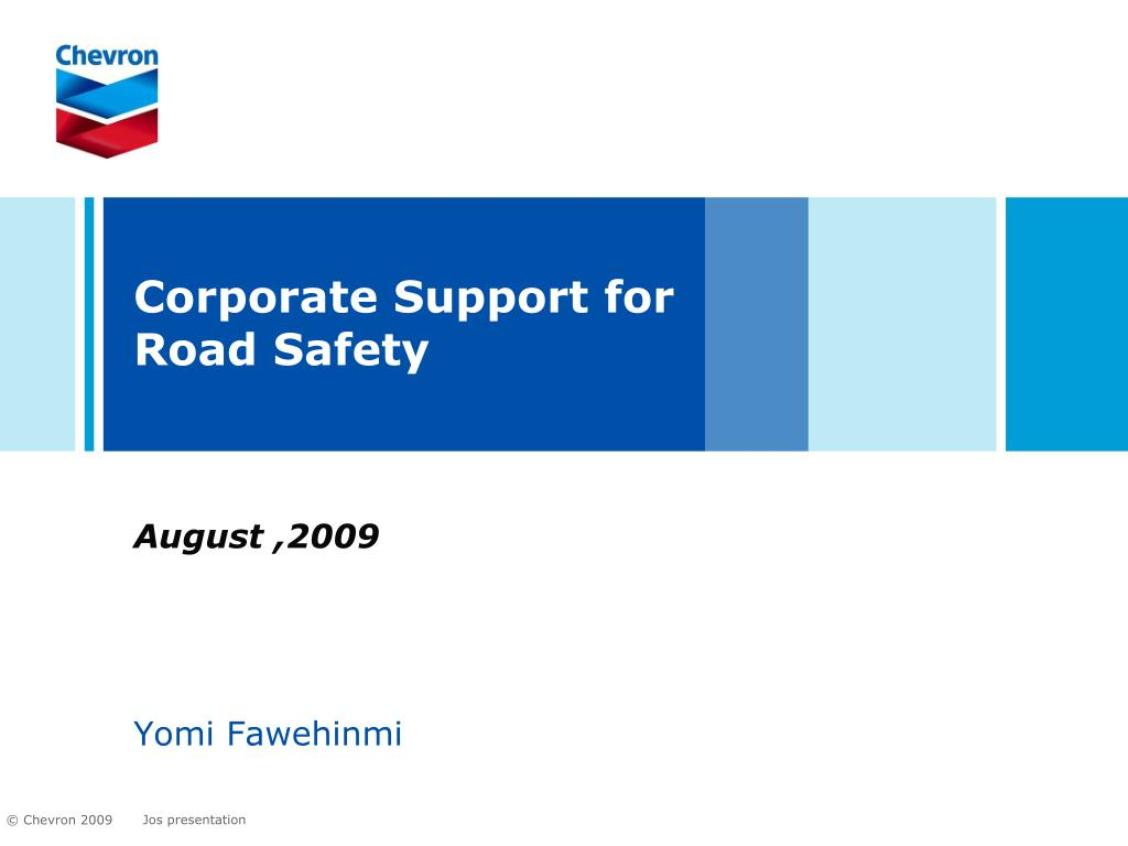corporate support for road safety l.