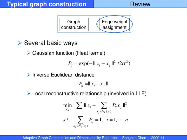 Typical graph construction