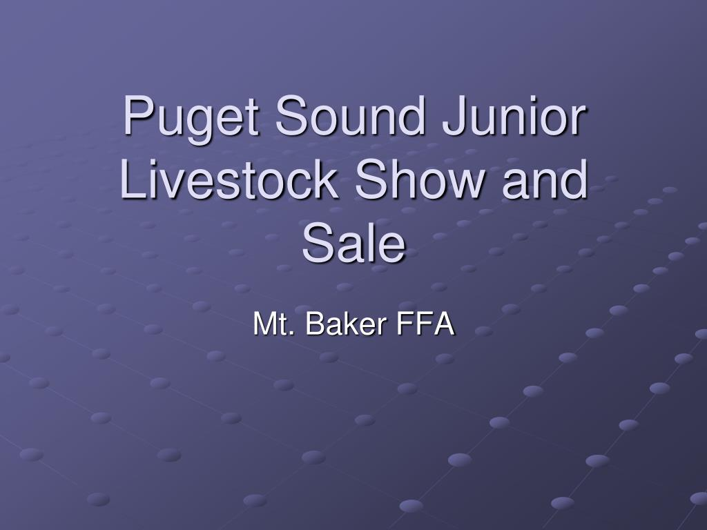 puget sound junior livestock show and sale l.