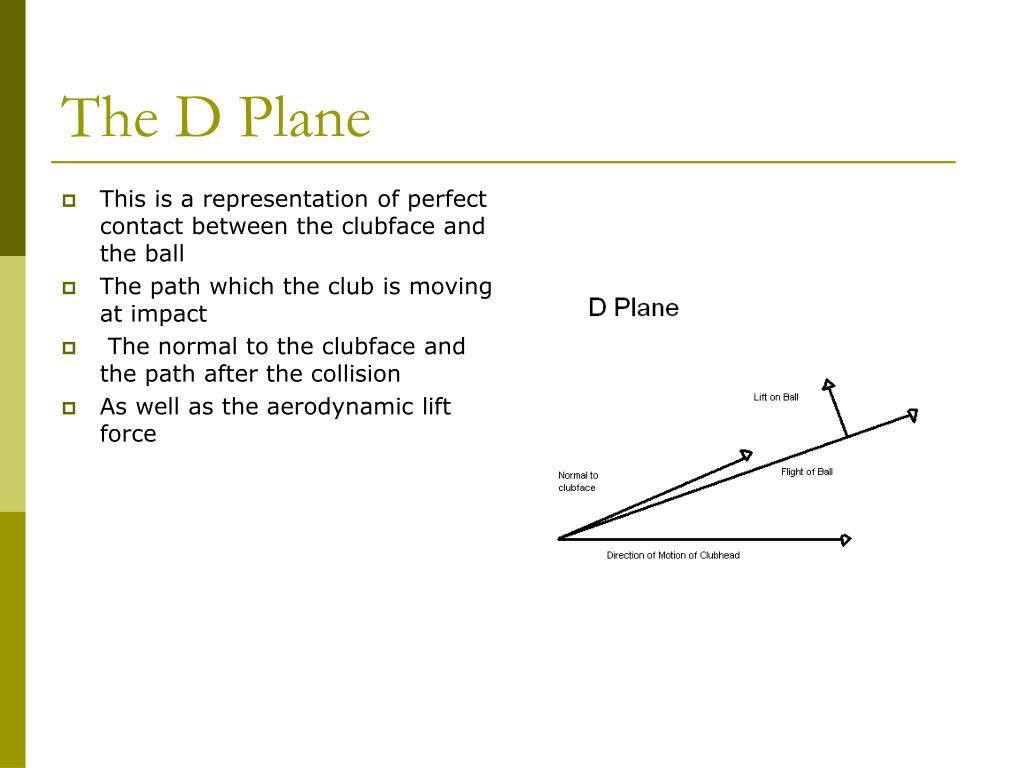 The D Plane