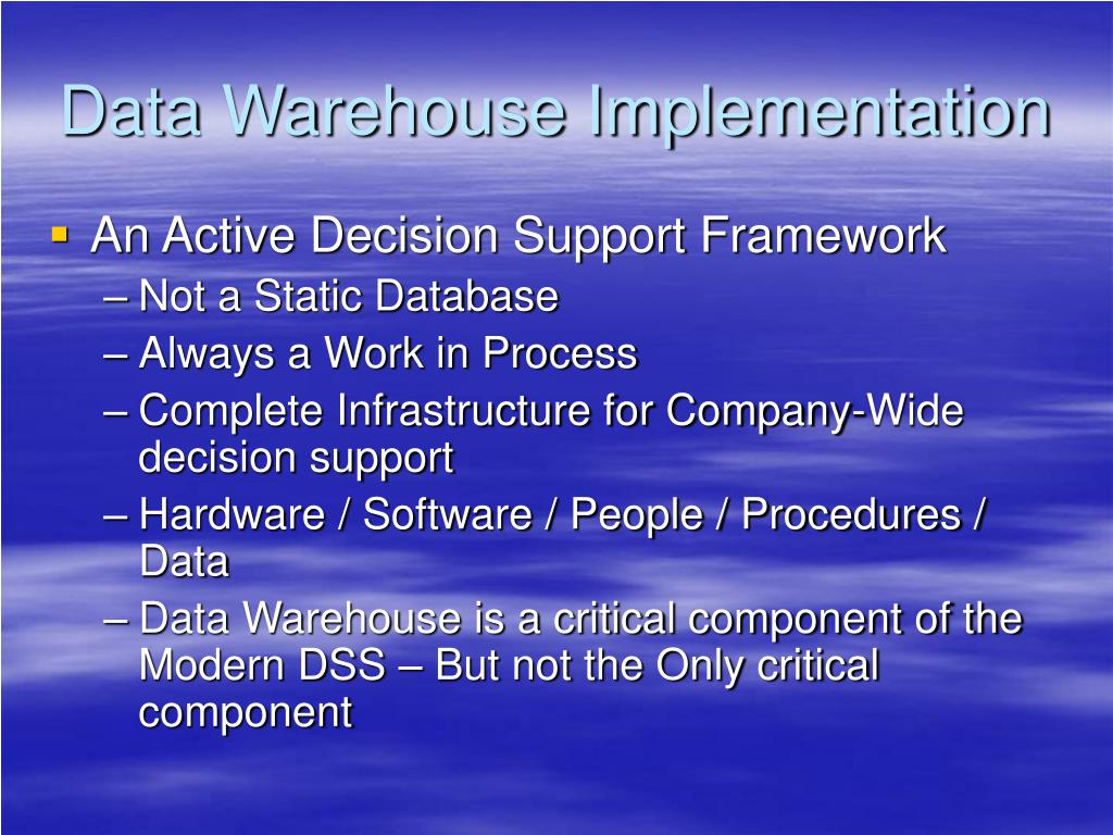 Data Warehouse Implementation