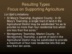 resulting types focus on supporting agriculture23