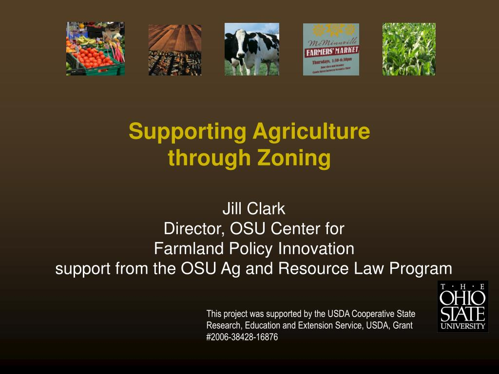 supporting agriculture through zoning l.