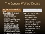 the general welfare debate