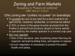 zoning and farm markets exceptions to powers not conferred orc 303 21 519 21