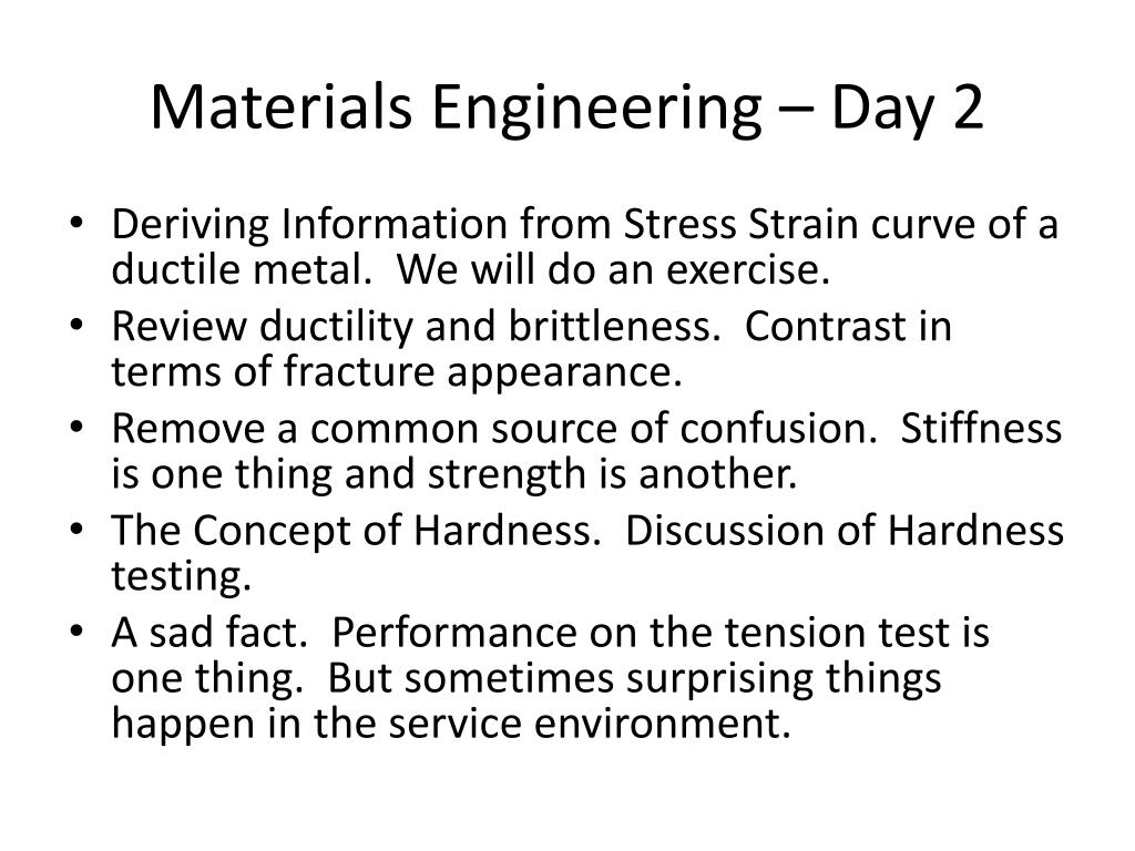 PPT - Materials Engineering - Day 2 PowerPoint ...