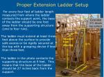 proper extension ladder setup