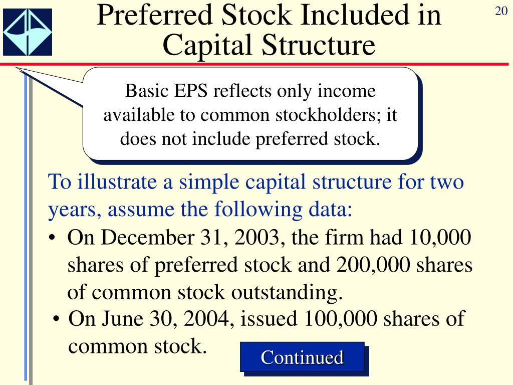 Preferred Stock Included in Capital Structure