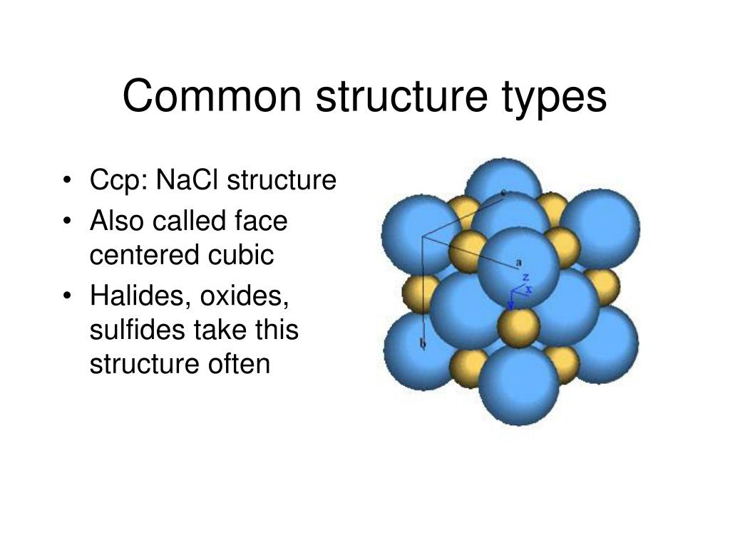 Common structure types