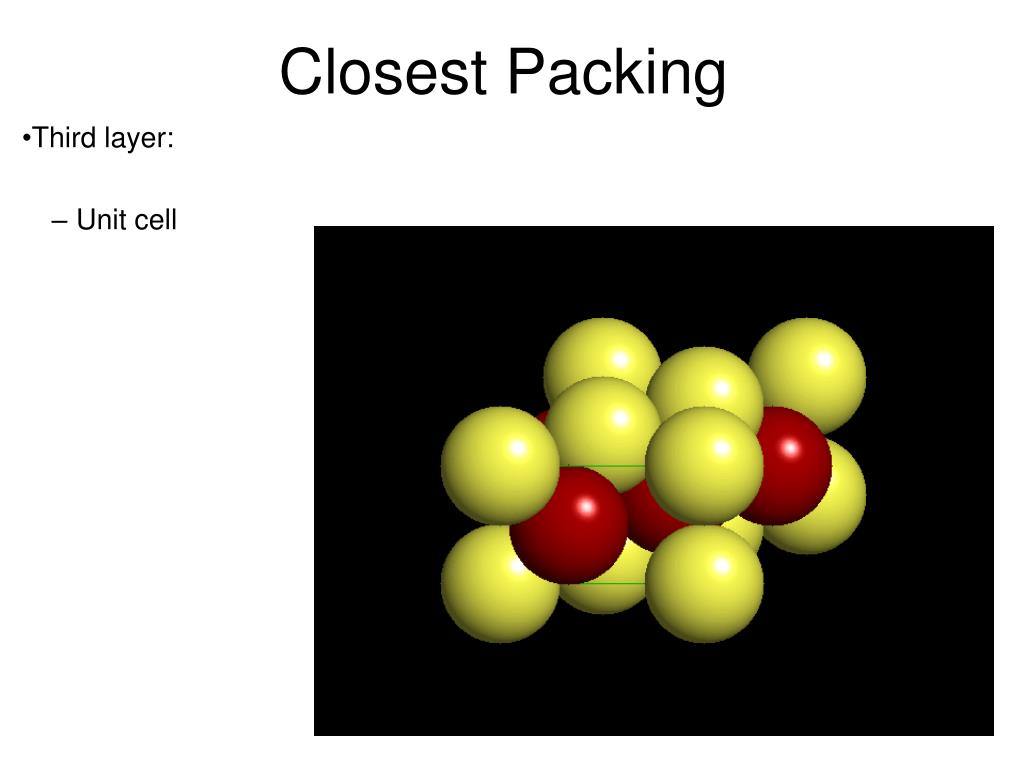 Closest Packing