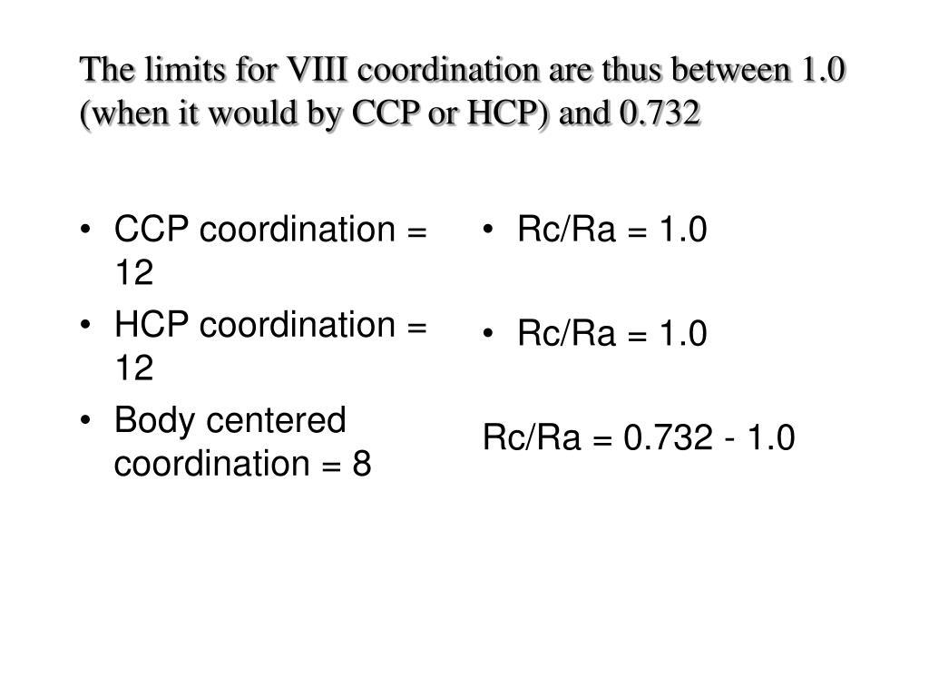CCP coordination = 12