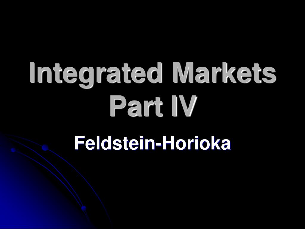 Integrated Markets