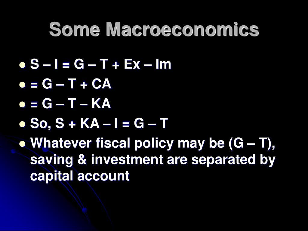 Some Macroeconomics