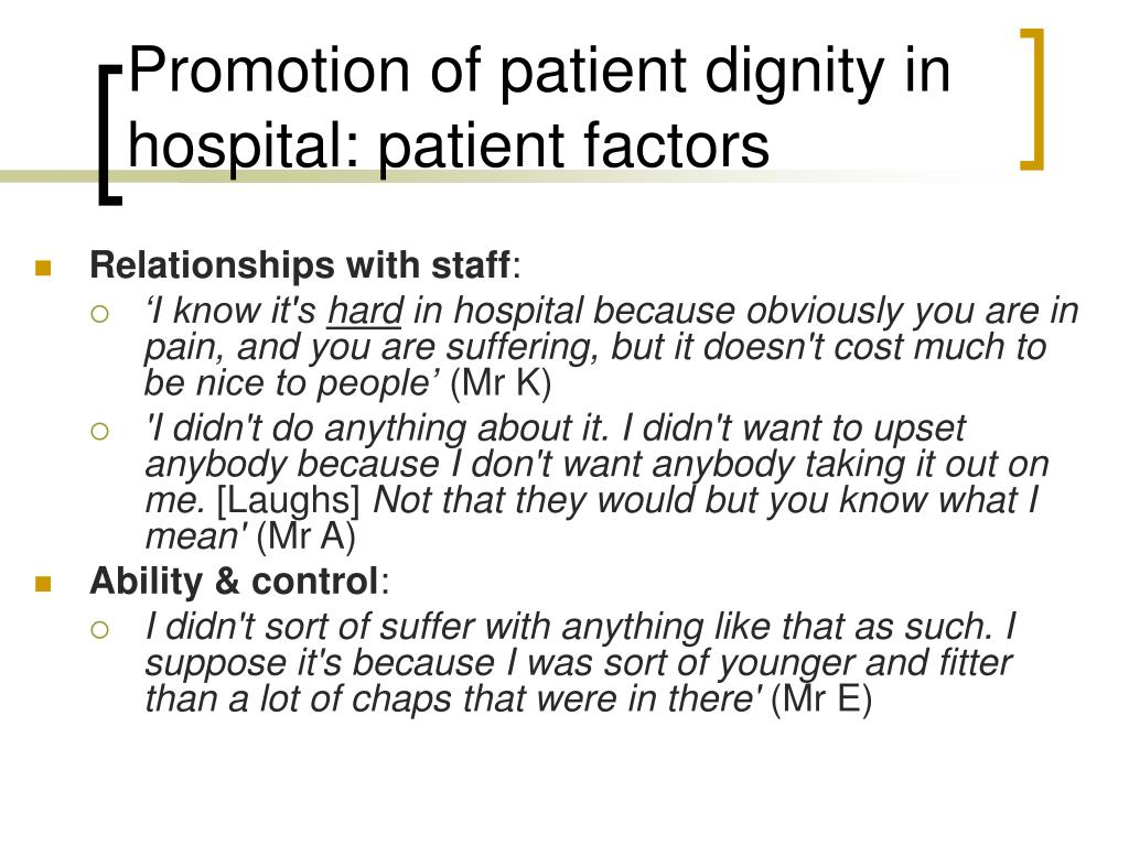 dignity patient and dorothy