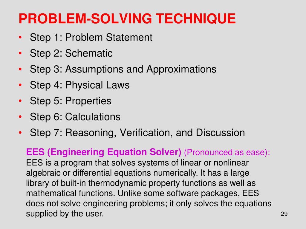 PROBLEM-SOLVING TECHNIQUE