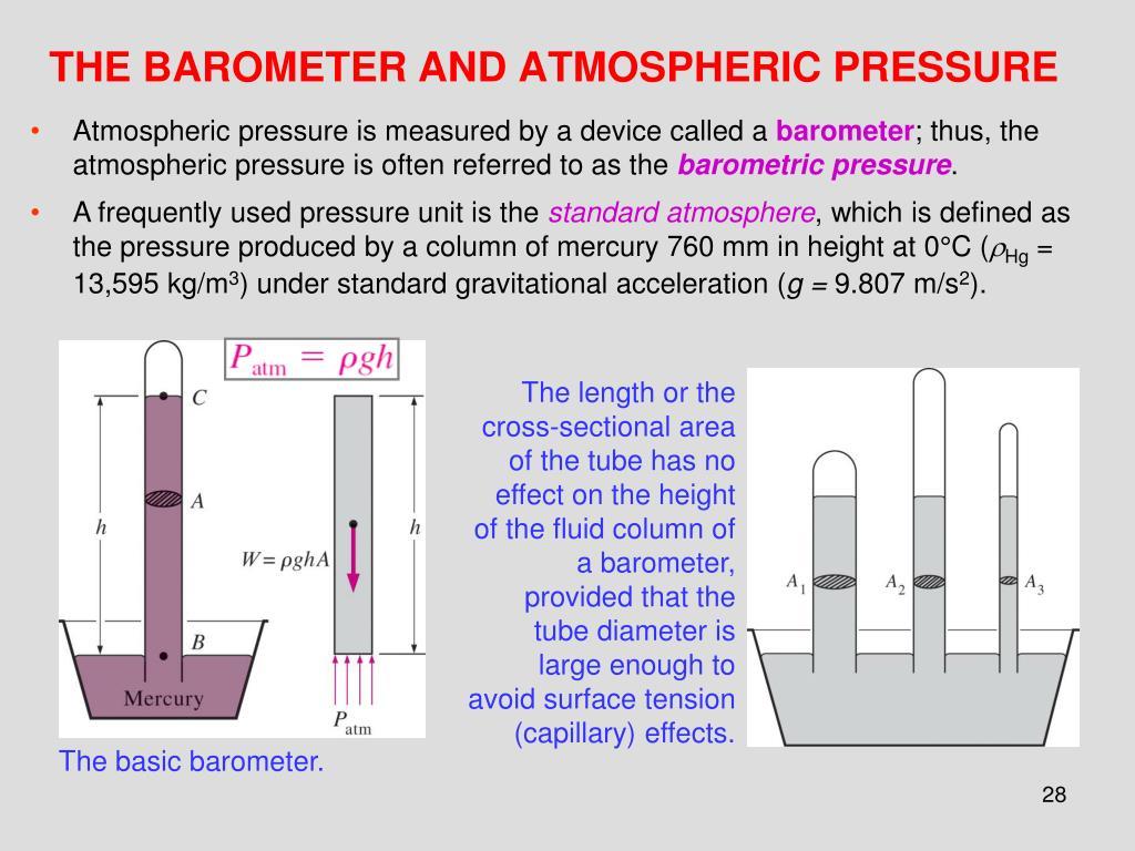 THE BAROMETER AND ATMOSPHERIC PRESSURE